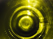 The bottom of the bottel of champagne. royalty free stock photography