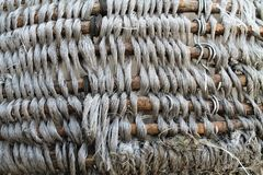 The bottom of the braided basket Stock Photography