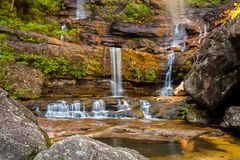 Bottom cascades of Wentworth Falls, Blue Mountain National Park, stock images
