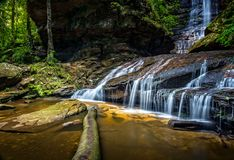 Bottom of Empress Falls. The bottom cascasde of Empress Falls, Valley of the Waters, Blue Mountains, Australia royalty free stock images