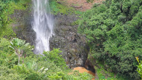 Bottom of Chamarel Waterfall. Mauritius stock footage
