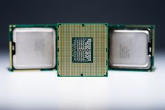 Bottom of CPU in detail Royalty Free Stock Photography