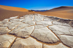 Bottom of the Death Valley Dunes Royalty Free Stock Photography