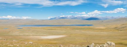 The bottom of dried-salty lake i Royalty Free Stock Photos