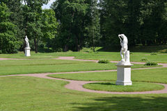 The bottom Dutch garden in Gatchina, Russia Royalty Free Stock Images
