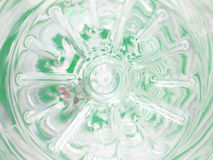 The bottom of empty plastic water container with recycle sign closeup Stock Photos