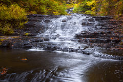 Bottom Falls at Myosotis. Bottom waterfall at Myosotis Falls in New York royalty free stock photo
