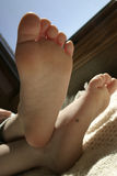 Bottom of foot. Toddlers bottom of foot Stock Photography