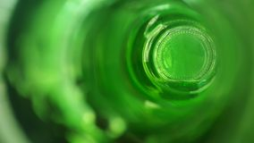 the bottom of the green bottle. abstraci. blur Royalty Free Stock Photos