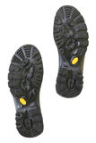 Bottom of hiking shoes. Isolated on pure white background Royalty Free Stock Image