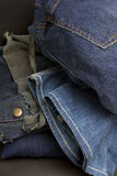 Bottom of The Jeans Pile Royalty Free Stock Photography