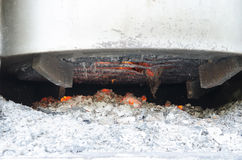 Bottom of the kiln. Bonfire on the bottom of the kiln Stock Photography