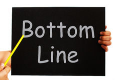 Bottom Line Blackboard Means Net Earnings Per Share Stock Images