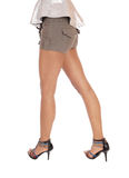 Bottom and long legs of a young woman. Royalty Free Stock Images