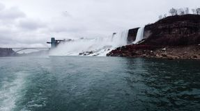 Bottom of Niagara Falls. View from the bottom Royalty Free Stock Images