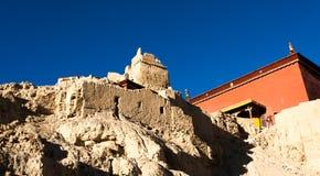 Bottom palace of Guge ruins Royalty Free Stock Image