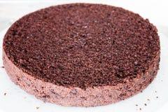 Bottom part of chiffon chocolate cake Stock Image