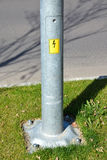 Bottom part of an electricity pylon Royalty Free Stock Image
