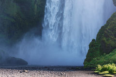 Bottom part of Skogafoss waterfall, South Iceland Royalty Free Stock Photo