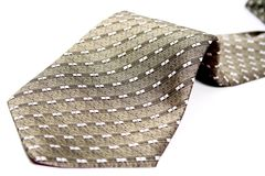The bottom part of a tie of the businessman Stock Image