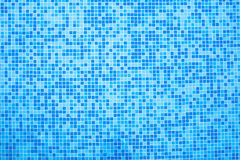 Bottom of the pool of blue tiles Stock Image