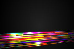 Bottom Rainbow straight Diagonal Line Glow Dark Background Royalty Free Stock Image