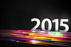 2015 Bottom Rainbow straight Line Glow Dark Backgroundound. Digital art Royalty Free Stock Images