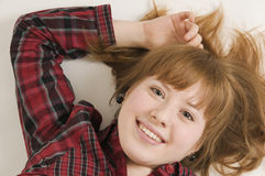 bottom relaxed woman young Στοκ εικόνες με δικαίωμα ελεύθερης χρήσης