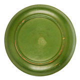 Bottom side of green plate Royalty Free Stock Image