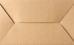 Bottom side of paper box. Close up at the bottom side of brown cardboard box Royalty Free Stock Photography
