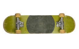 Bottom of Skateboard on White Background