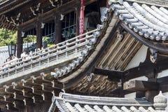 Bottom of steps entering Nigatsu-do Hall on the Todai-ji temple Royalty Free Stock Photo