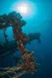 Bottom sunken ship wreck underwater Royalty Free Stock Photos