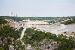 Bottom of surface mining in open mine Royalty Free Stock Photo