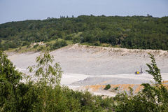 Bottom of surface mining in open mine Royalty Free Stock Photography