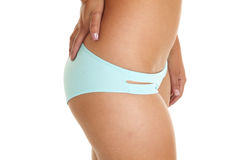 Bottom swim wear teal Royalty Free Stock Photography