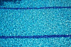 Bottom of swimming pool Stock Images