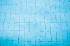 Bottom of swimming pool background Stock Photography