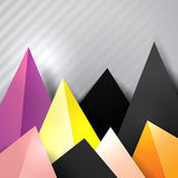Bottom triangle decorative border Royalty Free Stock Photo