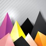 Bottom triangle decorative border Royalty Free Stock Photo