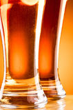 Bottom of two glass beer Stock Photo