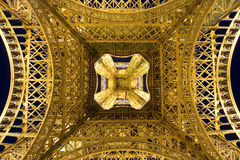 Bottom-up View of Eiffel Tower Stock Images