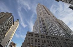 Bottom-Up view of Empire State Building Stock Image