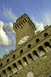 Bottom-Up view of Piazza della Signoria Stock Photography