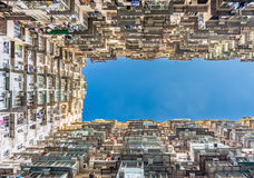 Bottom up view of Yick Cheong Building Stock Image