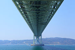 Bottom view of akashi Kaikyo bridge Stock Photography
