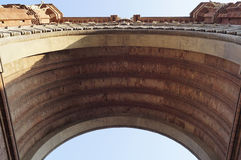 Bottom view of Arc de Triomf Stock Photography