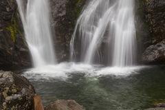 Bottom View of Bash Bish Falls. In the spring time stock image