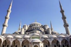 Bottom view of Blue Sultanahmet Mosque Stock Photos