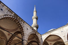 Bottom view of Blue Sultanahmet Mosque Royalty Free Stock Photo
